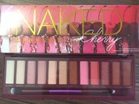 Wholesale naked palette makeup 12 for sale - High Quality Naked Eyeshadow eye shadows makeup palettes brand eyeshadow color Cherry Eyeshadow nude palette In Shine face
