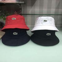 ağzı kesilmiş bezelye toptan satış-Yeni 4 renkler timsah kova nakış şapkalar açık kapaklar erkekler kadınlar unisex kasketleri güneş şapka pamuk cimri ağız şapka