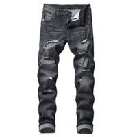 taille 23 jeans achat en gros de-Grande taille Hommes Jeans rock Harajuku Fitness Streetwear Punk évider Trou Pant 2019 Nouveauté Pantalons Pantalons de vente Vintage Hot