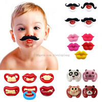 Wholesale Safe Quality Baby Funny Pacifier Mustache Pacifier Infant Soother Gentleman bpa Baby Feeding Products 1029