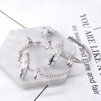 Wholesale baroque rings resale online - New Baroque catwalk ring large circle crystal earrings rhinestone ear accessories