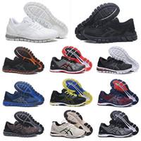 jel spor ayakkabıları toptan satış-asics gel shoes Toptan perakende nefes Jel Kuantum 360 Koşu Ayakkabıları erkekler için Koyu mavi yeşil siyah beyaz erkek Spor tasarımcısı eğitmenler sneakers