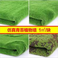 ingrosso green moss-100 * 100 cm Artificiale Pianta Verde Parete Muschio Turf Simulazione Prato Pianta Verde Finestra di Scena Display Fake Moss Prato Artificiale