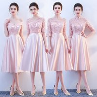 Wholesale women fairy princess gown for sale – halloween New pink fairy sweet lady girl women princess bridesmaid banquet party ball dress gown free