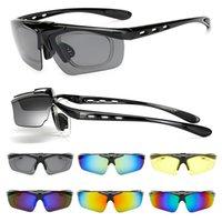 bike sonnenbrille uv großhandel-Motocross Bike Sonnenbrillen Flip Abdeckung Brillen für Herren Frauen Radfahren Laufen Fahren Angeln Golf Baseball Blendschutzbrillen UV