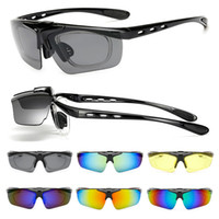 Wholesale bike sunglasses uv resale online - Motocross Bike Sunglasses Flip Cover Eyeglasses for Mens Women Cycling Running Driving Fishing Golf Baseball Anti Glare Goggles UV