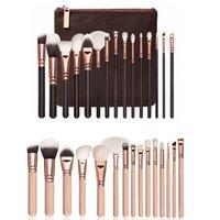 reise-make-up pinsel großhandel-Tragbare 15pcs / set Make-up Pinsel Ziegenhaar Make-up Pinsel-Set für die persönliche Reise Arbeit