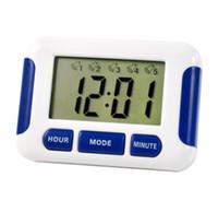 temporizador de cocción múltiple al por mayor-200 unids / lote Reloj de Alarma DHL Gratis 5 Grupos Noisy Bell 12/24 Horas Cuenta Atrás Multi Kitchen Home House Lab