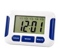 alarma de casa gratis al por mayor-200 unids / lote Reloj de Alarma DHL Gratis 5 Grupos Noisy Bell 12/24 Horas Cuenta Atrás Multi Kitchen Home House Lab