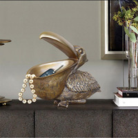 Nordic Jewelry Key Storage Resin Big Bird Crafts Decoration Bedroom Livingroom Entrance Office Table Toucan Ornament Decoration Y200106