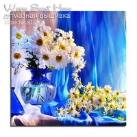 diy elmas boyama çapraz dikiş çiçekler toptan satış-5D Diy Elmas Boyama Çapraz Dikiş Elmas Nakış Çiçekler Şişede Iğne Rhinestones Elmas Mozaik Resimleri