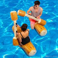 şişirilebilir havuz salları yüzdürüyor toptan satış-4 Adet / takım Polemiğe Girmek Havuz Şamandıra Oyunu Şişme Su Sporları Tampon Oyuncaklar Yetişkin Çocuk Parti Gladyatör Sal Kickboard NY054 Için