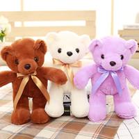 bebek şirketi toptan satış-Teddy Bear Bebek Peluş Oyuncaklar Çocuklar Için Şirket Promosyon Faaliyetleri Düğün Makinesi Bebek Özel Logo Ekleyebilir