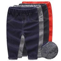 leggings de invierno de chicas coreanas al por mayor-1-6 años nuevos de chicas gruesos pantalones vaqueros para el muchacho de invierno los niños pequeños pantalones largos del estilo coreano caliente espesa niños Leggings para niñas