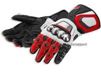Wholesale titanium motorcycle gloves resale online - Titanium Leather Gloves Full Metal RS Corse Motocross Motorcycle Race Bike Racing Long Gloves