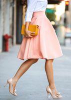 regenschirm rock mode großhandel-Pure Fashion Color Halbrock Über Knie Großer Rock Pendel Lady Umbrella Skirt