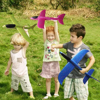 juguetes de planeadores voladores al por mayor-Modelo de planeador de espuma de 48 cm Modelo de avión de inercia Avión de inercia Lanzamiento de mano Modelo de avión Para planear el avión Juguete volador para regalo de niños