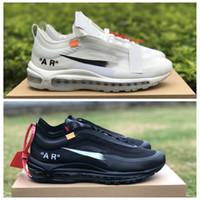 ingrosso baseball top uomini-Nike Off white Air maxNuovi Menta bianco nero grigio 97s Mens scarpe da corsa per sport delle donne degli uomini superiori delle scarpe da tennis dell'aria Formatori Size 12 Maxes