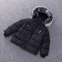 ingrosso giacche invernali bambino bambino-Baby Boys Jacket Autunno Inverno Kids Warm Thick Hooded Coat Capispalla per bambini Toddler Girl Boy Clothing