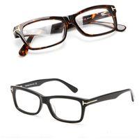 Wholesale big eyeglasses black women resale online - Men Optical Glasses Frame Tom Brand Eyeglasses Frames Plank Big Frame Spectacles Frames Women Retro Myopia Glasses with Original Case