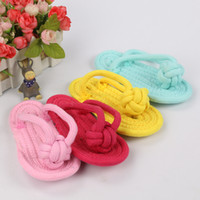Wholesale cartoon dog shoes for sale - Group buy Pet Shoes Bite Resistance A Molar Tooth Many Color Dog Slipper Toys Creative Idae Popular Cotton Rope Factory Direct Selling mq p1