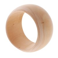 Wholesale unfinished wood crafts resale online - Natural Unfinished mm Wide Wooden Cuff Bangle Bracelet DIY Wood Art Crafts
