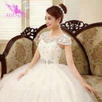 neue kostenlose heiße fotos großhandel-Reales freies Verschiffen des freien Verschiffens des realen Fotos billiges Ballkleid schnüren sich oben formale Brautkleider Hochzeitskleid WK321