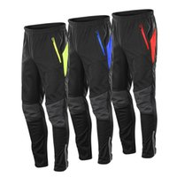 pantalon thermique de cyclisme achat en gros de-Pantalon de cyclisme en laine polaire imperméable Pantalon de sport pour hommes en plein air