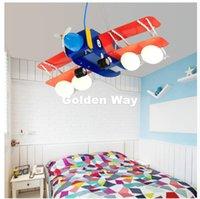 modern yataklar ücretsiz gönderim toptan satış-Modern Çocuk Düzlem L65cm Tasarım Sarkıt Modern LED Kolye Işıklar Armatür Çocuk Çocuk Odası Aydınlatma Ücretsiz Kargo Yatak
