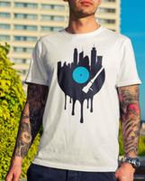 дизайн музыкального искусства оптовых-Мужская Виниловая городская футболка-модный подарок Tee Design Music DJ Rave Clubbing Art