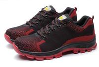 резиновая обувь для мужчин оптовых-Горячая распродажа-2018 мужчины стальной носок защитная обувь для мужчин модные походные ботинки строительные рабочие ботинки мужская обувь резиновые ботильоны размер 35-46