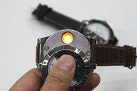 wrist watch gift box оптовых-Зажигалка с подсветкой 2 в 1 с розничной коробкой Аккумуляторная электронная зажигалка с зарядом USB Беспламенные сигарные наручные часы Зажигалка Бизнес подарки