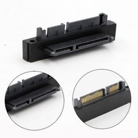Wholesale laptop sata female resale online - 50pcs Degree Angled SATA Pin Male to Female Extension Computer Adapter Convertor