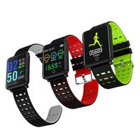 androide groß großhandel-F3 Smart Band Big Screen Herzfrequenzmesser Boold Druck Schrittzähler Wasserdichte Fitness Tracker Sport Armband Armbänder Für Android iOS