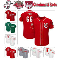 ingrosso maglia di matt kemp-Custom Cincinnati Mens 2019 New Jersey 150th Anniversary patch Reds Joey Votto Yasiel Puig Jesse Winker Maglia da baseball Matt Kemp