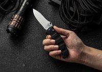 cuchillos de banco al por mayor-Cuchillo plegable Nakamura AXIS hecho en banco M390 Hoja de raso liso Mangos de fibra de carbono Supervivencia BM31 BM42 BM51 BM62 Cuchillos Herramientas EDC