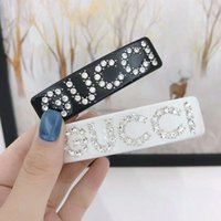 Wholesale celtic hair accessories resale online - High Quality Crystal Letters luxury designer Women Hair Clips Barrette For classic Girl Hair Clamps Women Hair Accessories Jewelry