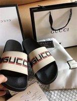 kutu torbaları toptan satış-Tasarımcı Kauçuk Slaytlar Sandal Blooms Yeşil Kırmızı Beyaz Web Moda Erkek Bayan Ayakkabı Plaj Çiçek Kutusu ile Torba Çevirme Görev GGSlippers GGSh