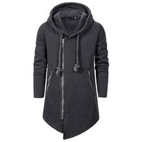 assassin creed hoodie preto venda por atacado-Inverno 2019 homens europeus e americanos de moda assassino Black Series credo do hoodie ocasional solta hoodie do feriado pullover irregular