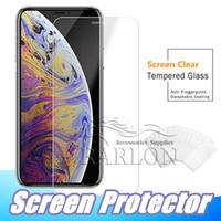 iphone koruyucusu filmleri toptan satış-Iphone 11 için pro max temperli cam ekran koruyucu için galaxy j3 j7 a9 a50 2019 iphone xr xs max x 8 7 artı baskı filmi 9 h anti paramparça