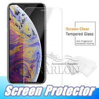película anti shatter iphone al por mayor-Para iPhone XR XS MAX Protector de pantalla de cristal templado para Galaxy J3 J7 A9 A8 A80 2019 Iphone X 8 7 más 6 s Edición Película 2.5D 9H Antivibraciones
