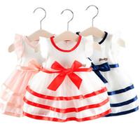 ingrosso vestito da bambino di 2years-Vestiti da partito di estate del vestito estivo dai bambini delle ragazze dei capretti del bambino dei capretti 0-2Years
