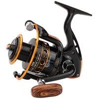 carrete 12bb al por mayor-12BB Spinning Pesca Carrete de la rueda para el agua salada Carrete de Metal Carretes de pesca carpa molinete fish tackle