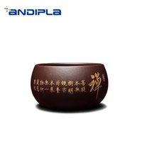 conjunto chinês do chá do fu do kung venda por atacado-40-95ml Yixing roxo argila Teacups Natural roxo argila Yixing Copa Sake bacia Boutique Chinese Kung Fu Tea Set Copos Teaware