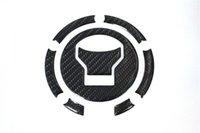 almofadas do tanque de combustível venda por atacado-Capa de fibra de carbono 3D Motorcycle tanque de combustível Junta Pad Filler Adesivo Decalque Para HONDA CBR650F 14-15 / VFR800 / X 15 / 14-15 MN4