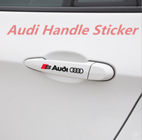 Wholesale audi sports car resale online - 10 High Quality Audi Door Handle Stickers A2 A4 A5 A6 B7 B8 tt Four Rings Sports Quottro Sline Car styling