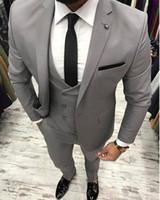 Wholesale one button designer suits resale online - Men Suits Wedding Costom Made Man Tuxedo Groom Wear Bridegrom Groomsmen Blazer Jacket Best Men Prom Wear Pieces