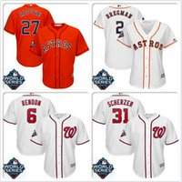 Wholesale cool base jersey sizes for sale - Group buy Men Jose Altuve Houston Astros Jersey Justin Verlander Max Scherzer Anthony Rendon cheap World Series Bound cool base baseball jerseys sizes