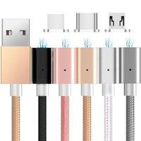 manyetik şarj adaptörü usb kablosu toptan satış-Kablo 1m samsung s6 s7 s8 not 8 htc için 3 ft mikro tip c usb kablosu adaptörü Şarj Metal Alaşım Manyetik Hızlı