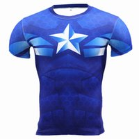 Wholesale Summer Cotton Mens Casual TShirt Crossfit Fitness Boylig Short Slee Male Neck Shrts Tee Men Gyms Clohing